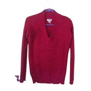 Route 66 Marled V-neck Sweater Top Red